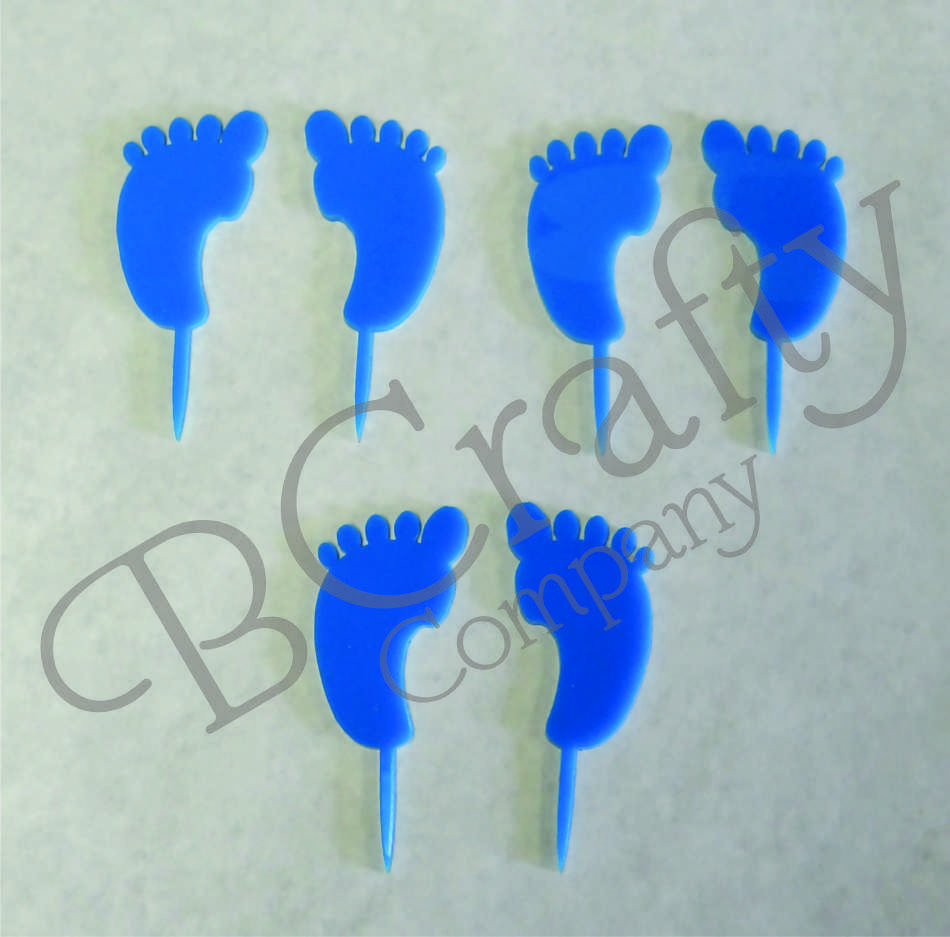 Baby Feet Cupcake Topper 6 count - Laser