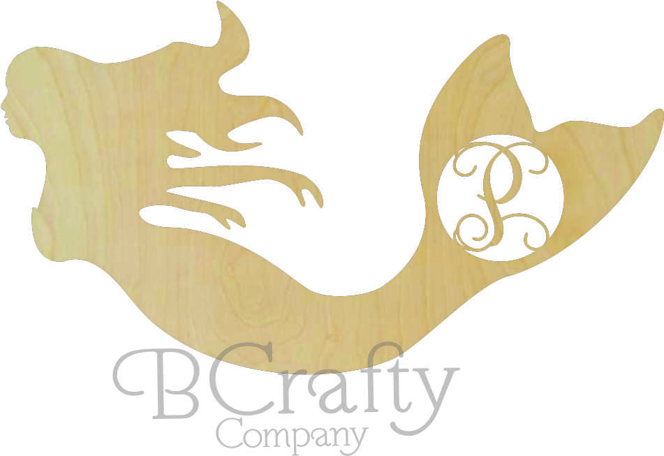 Wholesale Wooden Mermaid Cutouts