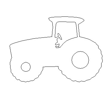 Wholesale Wooden Tractor Cutouts