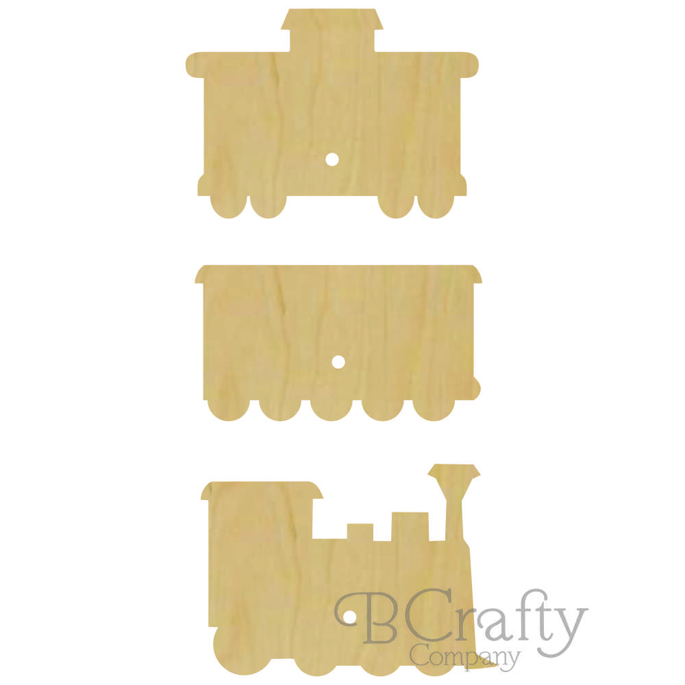 3 piece train wall peg set