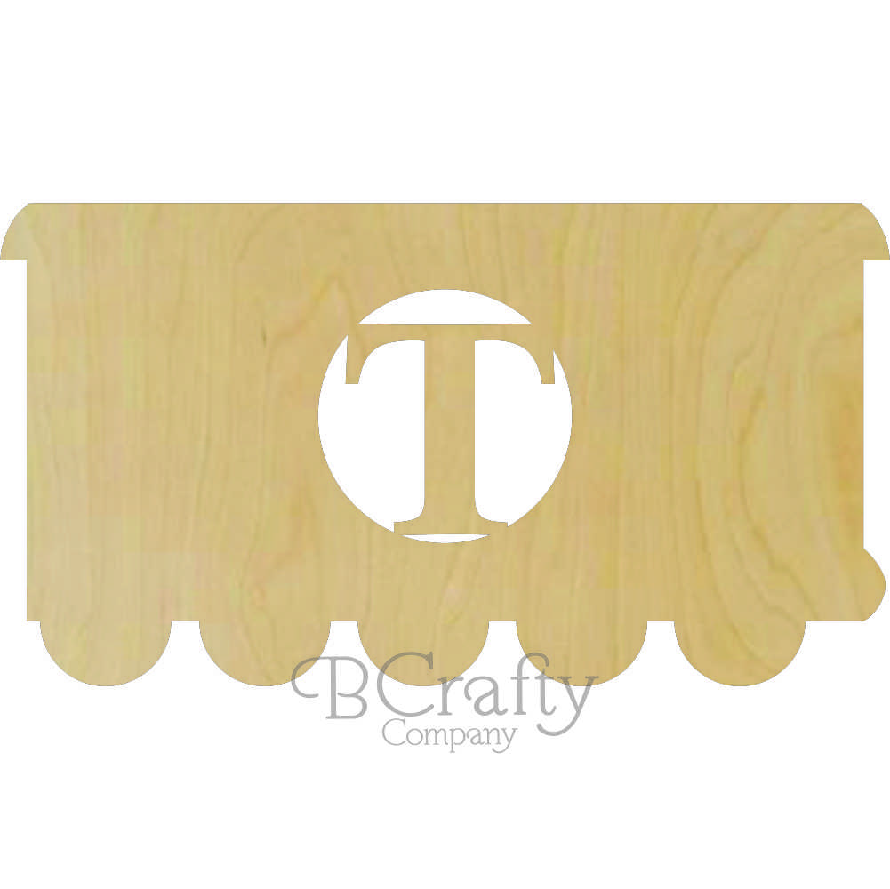 Train Additional Car Wooden Shape with Monogram Insert