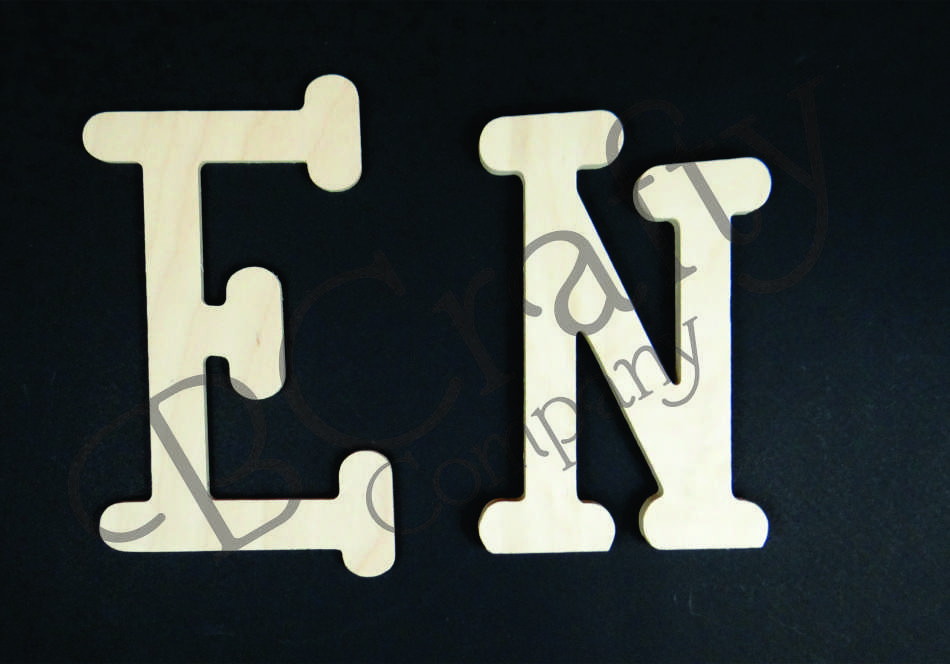 10 inch UPPERCASE whimsical letters