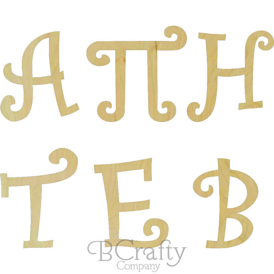 Wholesale Wooden Greek Letters